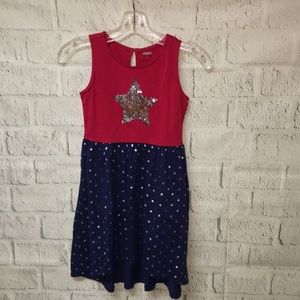 Gymboree patriotic red and blue sundress